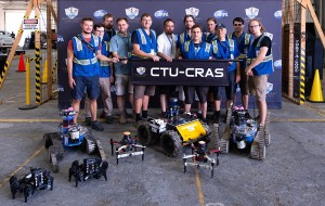 CTU-CRAS team with the robots at the Tunnel Circuit